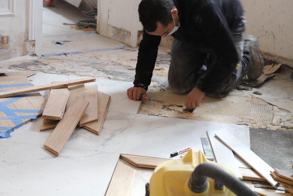 Rénovation de carrelage de cuisine à Paris